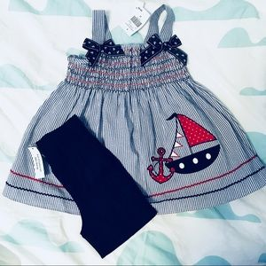 Goodlad Dress With Bloomers 12 Month Sailor Boats Baby & Toddler Clothing Clothing, Shoes & Accessories